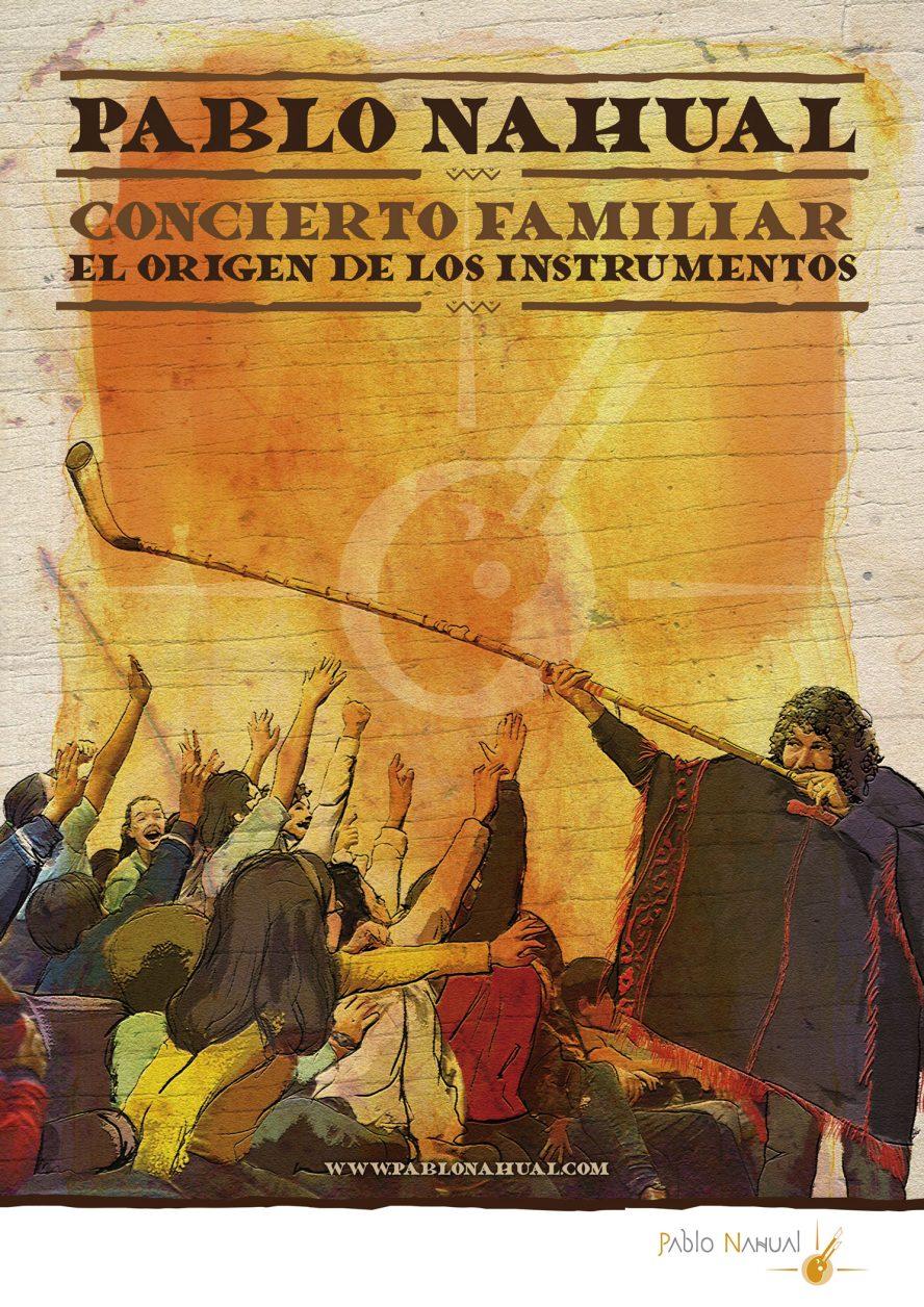 Cartel Pablo Nahual Concierto Familiar